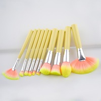 10PCS Makeup Brush Synthetic Powder Multicolor Red Kit Brushes Make Up Brushes Set Professional Cosmetic Brushes