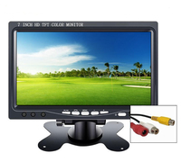 Mini lcd monitor 7 inch HDMI touch IPS 1024*600 with Built in speaker for Car Reverse Rearview Auto Accessories portable monitor