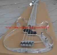 Бесплатная доставка Новый Большой Джон 4 струны плексигалсс акриловые электрические басы тело и шея bJ 133