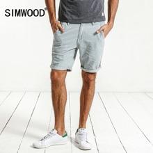 Simwood Новинка 2017 года новые летние джинсовые шорты мужские в полоску 100% натуральный хлопок Slim Fit Винтаж по колено брендовая одежда ND017012