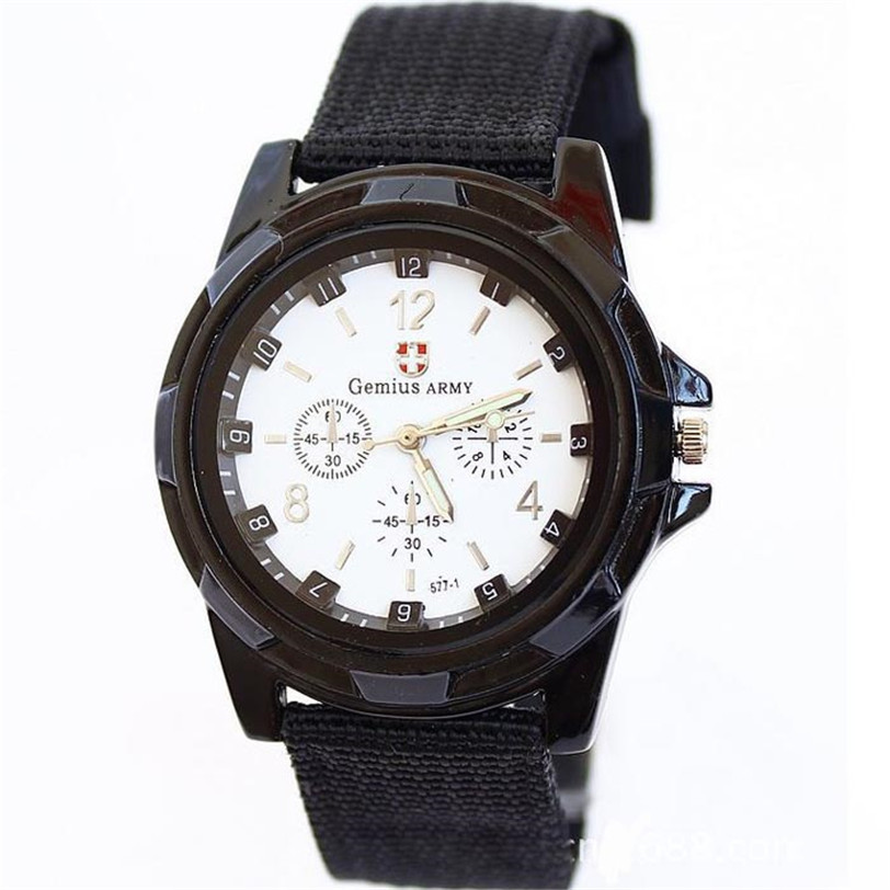 Men's Watches Luxury Brand Sport Military Gemius Army Racing Force Military Officer Fabric Band Watch MEN Sports Watch Drop 3 crazy sales 2014 new sports military watch men racing gift watch drop shipping army cool watch sv16 sv006455