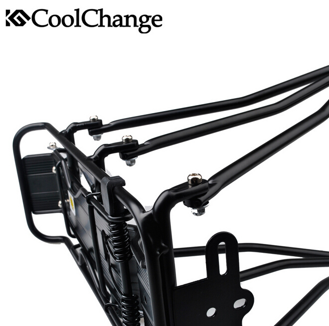 CoolChange Aluminum Alloy Disc Brake Bicycle Cargo Racks Cycling MTB Bike Carrier Rear Luggage Rack Shelf Bracket 80KG
