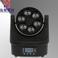 New Design Hot Selling The Amazing HAWKEYE 6PCS 15W RGBW 4IN1 Bee Eye LED Moving Head Beam+Wash Light 5%off Free Shipping