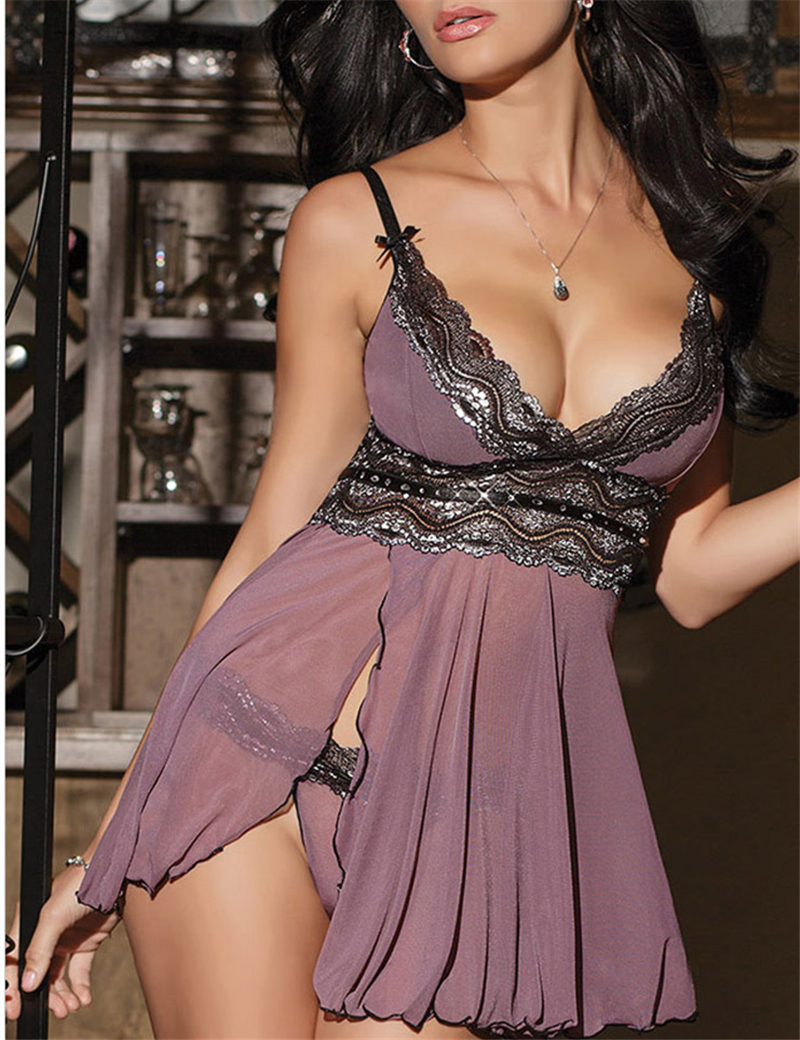 Women S-<font><b>6XL</b></font> <font><b>Lingerie</b></font> <font><b>Sexy</b></font> Hot Erotic <font><b>Lingerie</b></font> Dress Set Plus Size Baby Doll Sleeping Dress Lady Nighty Sleepwear image