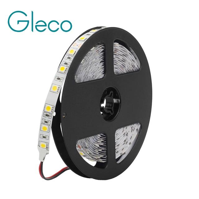DC 24V 5050 LED רצועת 60 נוריות/m 5 M/Roll 300 נוריות IP20 IP65 עמיד למים LED רצועת 5050 RGB, לבן, חם לבן, אדום, כחול, ירוק, צהוב