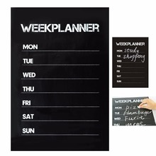 Cobee 45*31 см еженедельная доска наклейка планировщик календарь Основные памятки мел доска дополнение гостиная