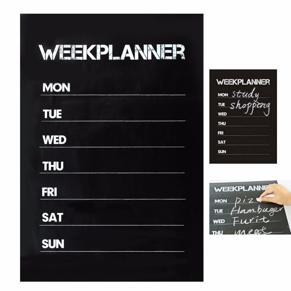 Cobee 45*31cm Weekly Blackboard Sticker Planner Calendar Essential Memo Chalk Board Blackboard Complement Livingroom