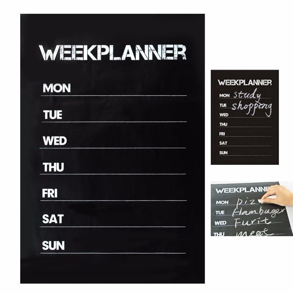 Cobee Weekly Blackboard Sticker Planner Calendar Essential Memo Chalk Board Blackboard Complement Livingroom