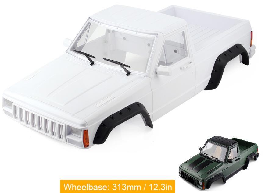 Hard Plastic Wheelbase 313mm Pickup Truck Car Shell Kit for 1/10 RC Rock Crawler Axial SCX10 & SCX10 II 90046 90047 D90 hard plastic car shell for 1 10 rc rock crawler axial scx10 wheelbase 313mm white