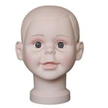 Yüksek kaliteli çocuk Manken Kafa Şapka Ekran Peruk eğitim kafa modeli kafa modeli çocuk kafa modeli