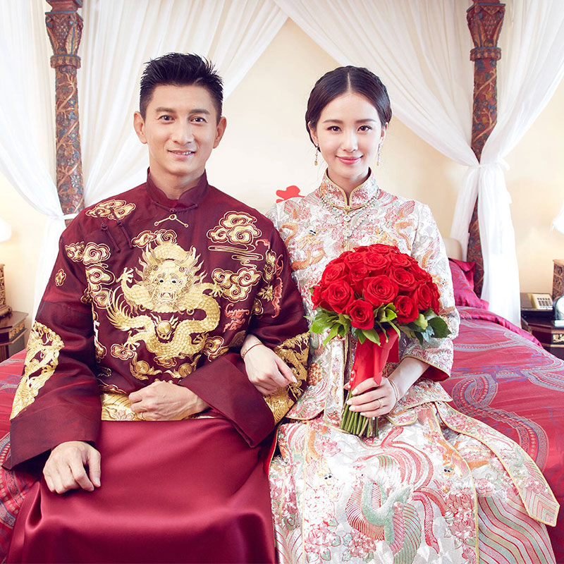 Traditional Costume show chinese style Claret red groom married wedding Long Robe male show clothing Groom formal evening Gown|Robe & Gown| |  - title=