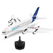 Avión de ala fija Airbus A380 Avión de Control remoto modelo 3CH EPP avión volador RTF