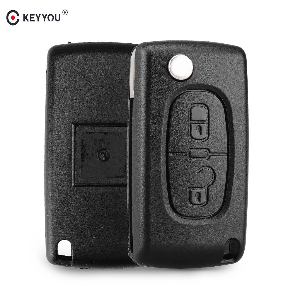 KEYYOU Remote Key Flip Folding Car Key For Peugeot 307 207 107 308 3008 407 407 607 Citroen C2 C3 C4 C5 C6 C8 433MHz ID46 Chip|Car Key| |  - title=