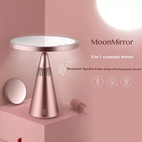 Makeup Mirror Smart Bluetooth Speaker Audio Fill Light Double sided LED Lamp mirror Red dot award Brand Cool Gift
