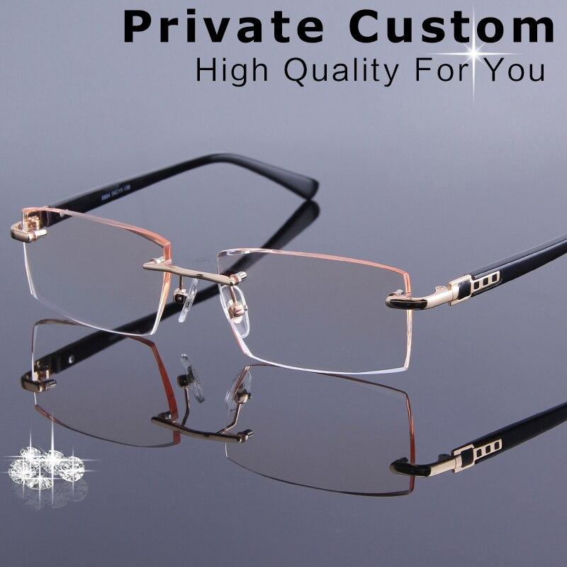 e30179d57dfb High Quality Rimless Glasses Men Frameless Eyeglasses Male Complete Optical  Spectacle Prescription Glasses Computer Eye Glasses-in Prescription Glasses  from ...