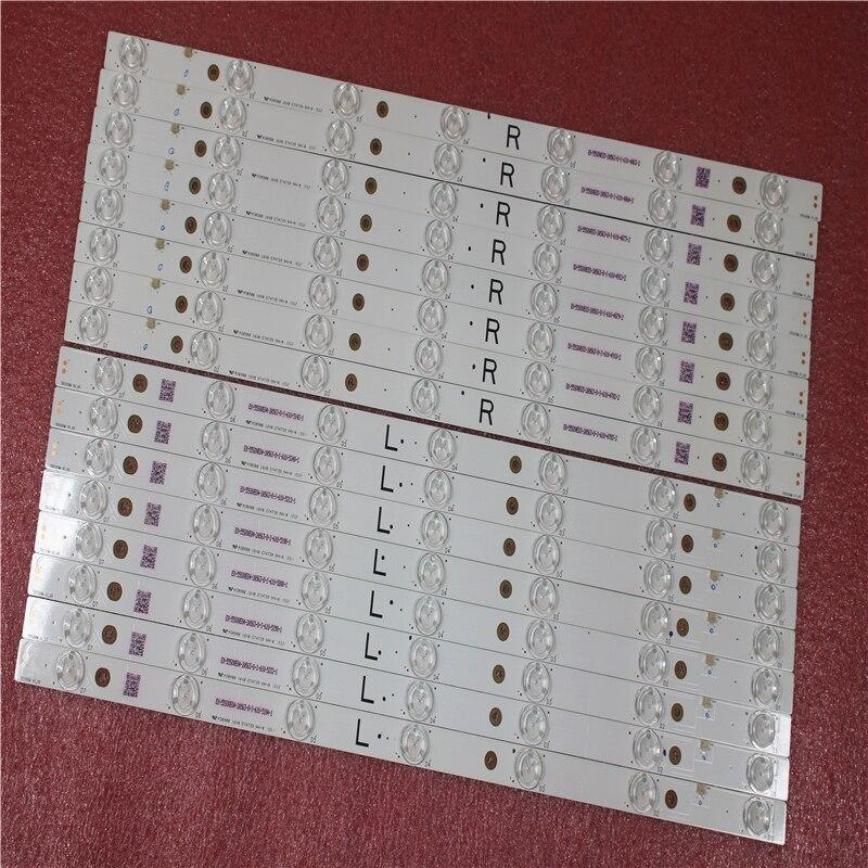 16pcs LED Strip for TV TX-55AX630B TX-55AX630E TB55O9M 550TV01 550TV02