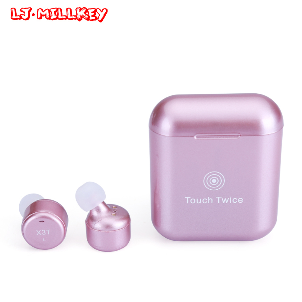 2018 TWS Wireless Bluetooth 4.2 Headset Earphone wtih Charger Box Bass Upgraded for iPhone Samsung Dropshipping LJ-MILLKEY YZ138 original roman r6000 wireless bluetooth headset for samsung xiaomi iphone 7 car charger 2 in 1 bluetooth earphone