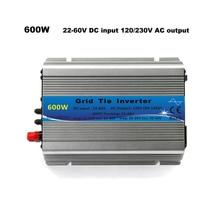 Grid Tie Inverter 600W Mppt Micro 30V 36V Panel 72 Cellen Functie Zuivere Sinus 110V 220V Uitgang Op Grid Tie Inverter 22 60V Dc