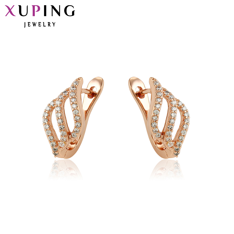 Xuping Fashion Orecchini di alta qualità in stile europeo design di fascino in oro rosa placcato gioielli regalo di San Valentino S17-90045
