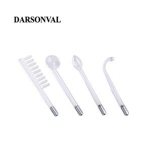 Image 5 - Darsonval 4 個高周波フェイシャルガラス管マッサージャー電極ワンドの交換にきびスポットリムーバーオレンジレイ面ケア