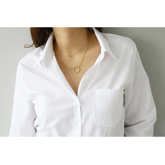 2020 Autumn New White Blouse Shirt Casual Loose Long Sleeve OL Style Shirt Women Korean Office Tops Streetwear 5