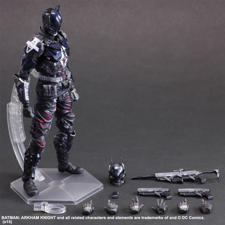 SquareEnix Playarts KAI Batman Arkham Knight PVC Action Figure Collectible Model Toy 27cm free shipping playarts kai batman arkham knight batman blue limited ver superhero pvc action figure collectible model boy s favorite toy 28cm