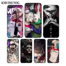 For Huawei P8 P9 P10 P20 P30 Pro Lite P Smart Plus Y6 Y9 2017 Black Soft Silicone Phone Case Joker and Harley Quinn Style