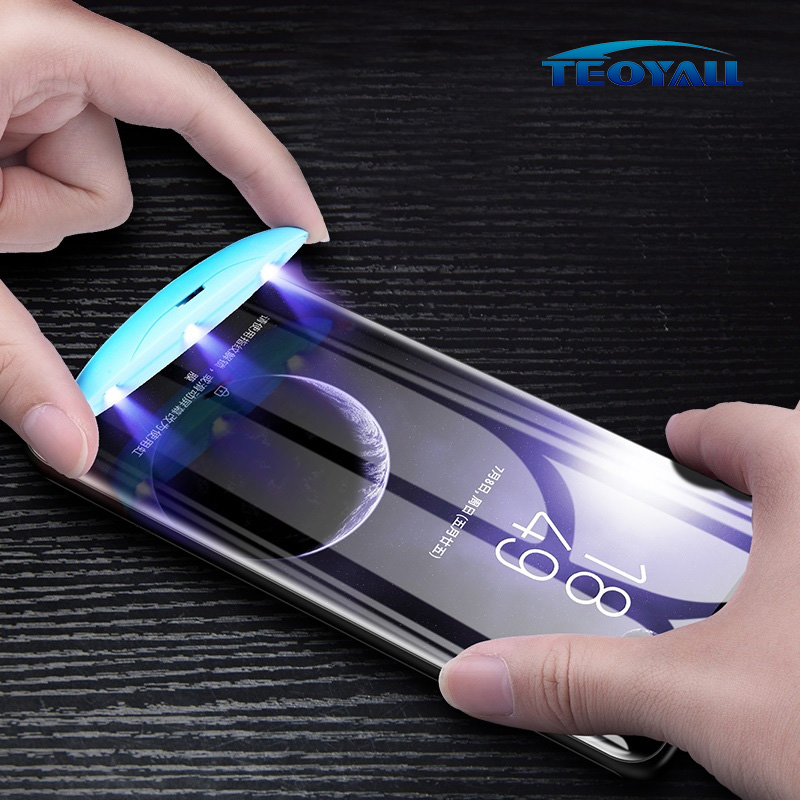 Full Cover Curved Liquid Glue Tempered Glass on for Samsung Galaxy S9 S8 Plus S7 Edge Note 8 9 Screen Protector Protective Film(China)