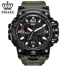 2017 Fashion Waterproof Watch Men LED Casual Sport Military Watches Shock Resistant Men's Quartz Digital Watch relogio masculino