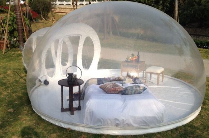0.8MM PVC 4M Inflatable Bubble House/Inflatable Tent For People Have A Camping In Outdoor pvc bubble inflatable tent transparent camping tent hot large inflatable tent inflatable ball tent