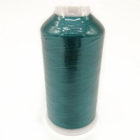 High Quality 5000 Meters Green Color 120D 2 100 Reflective Viscose Rayon Embroidery Thread With Plastic