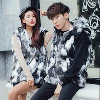 colete masculino faux mink leather men vest Hooded casual clothing camiseta tirantes hombre personalized autumn winter korean
