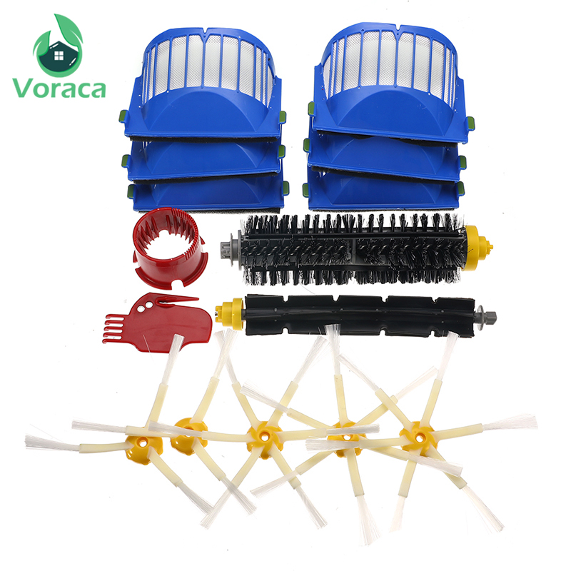 6-15Pcs/Set Filter Brush Kit Cleaning Tools For IRobot Roomba 600 Series 605 615 616 620 621 631 651 Beater Brush Filters Kit