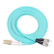 5pcs/lot OM3 LC/UPC-FC/UPC Multi-Mode OM3 Fiber Cable Multimode Duplex Fiber Optical Jumper Patch Cord 3M 5M 10M 15M цена и фото