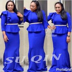 Afrikanische Kleidung Gefälschte Zwei Pcs Lange Kleid Mit Gürtel Tau schulter Für Dame (CP08 #)