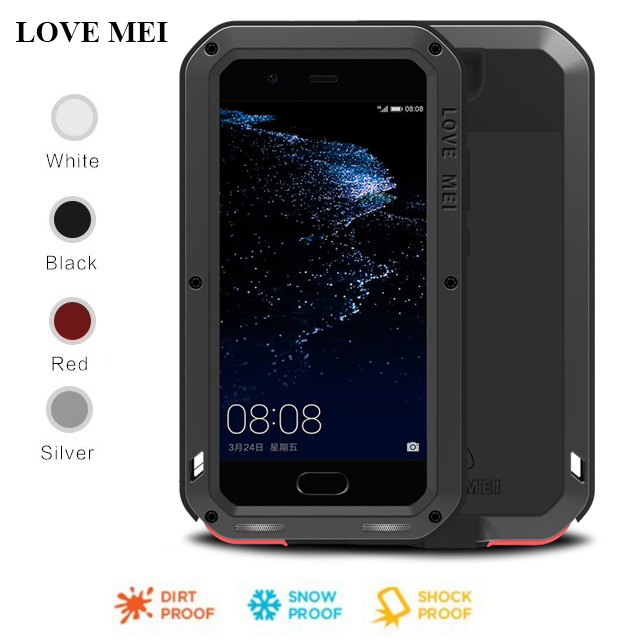For <font><b>Huawei</b></font> P20 Pro <font><b>Lite</b></font> <font><b>Case</b></font> LOVE MEI Powerful Shockproof Aluminum Metal Gorilla <font><b>Glass</b></font> Cover <font><b>Case</b></font> For <font><b>Huawei</b></font> P10 Plus <font><b>P9</b></font> Plus image