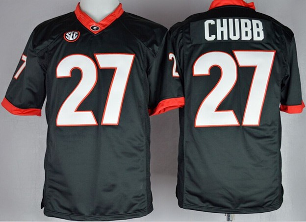 the latest 5d97e 47d62 Mens Stitched Nick Chubb Jersey,Nick Chubb Football Georgia ...