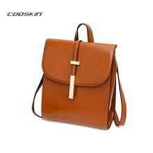Cooskin Марка Высокое качество яловичный спилок кожаные женские рюкзак старинные рюкзак для девочек-подростков повседневные сумки женские сумки на ремне