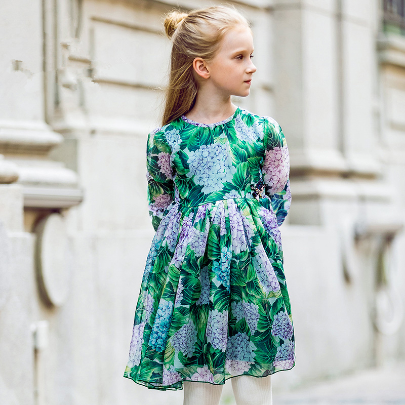 W.L.MONSOON Girls Ortensia Dress with Handmade Dragonfly 2017 Brand Princess Dress Long Sleeve Robe Fille Clothes Kids DressesW.L.MONSOON Girls Ortensia Dress with Handmade Dragonfly 2017 Brand Princess Dress Long Sleeve Robe Fille Clothes Kids Dresses