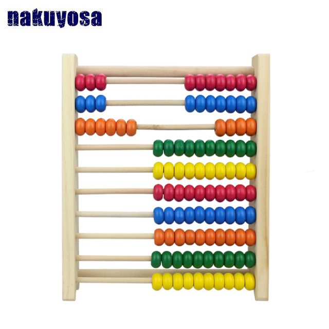 2 7 Years Old Multicolor Beads Design Educational Wooden Abacus Toy