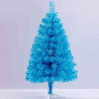 60cm Lake Blue Small Trees For Christmas PVC High Quality Home Desk Decoration Supplies Environmentally Friendly