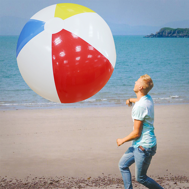 107cm 42inch Super Large Charm Colorful Inflatable Beach Ball Outdoor Play Balloon Giant Volleyball Pvc