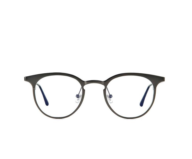 94ad90e24f90f Compre Nova Moda Redonda De Metal Planície Prescrição Óculos Vintage ...