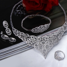 Elegant design New Bridal Jewelry Sets for Bride 4pcs Jewelry sets for Wedding Necklace/Earrings/Bracelet/Rings 4 pcs Sets