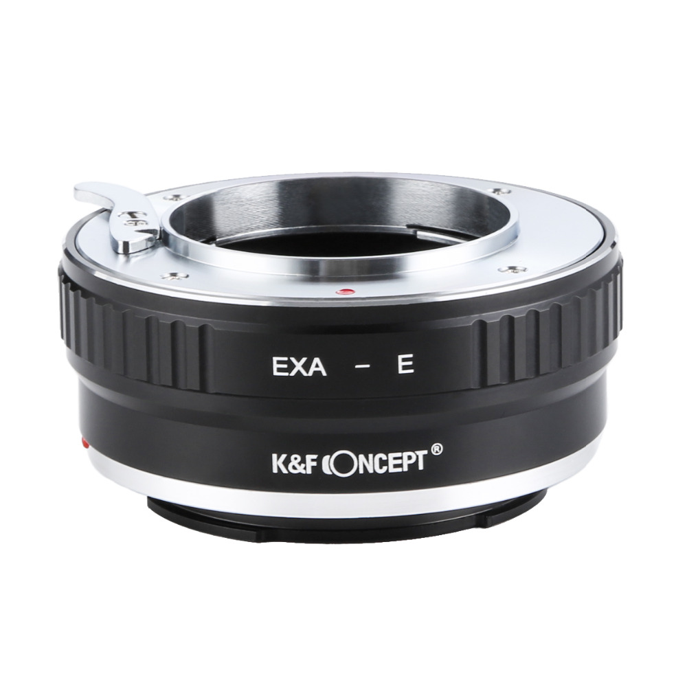 Adaptateur d'objectif K & F Concept EXA-NEX pour monture d'objectif EXAKTA vers boîtier de caméra Sony E