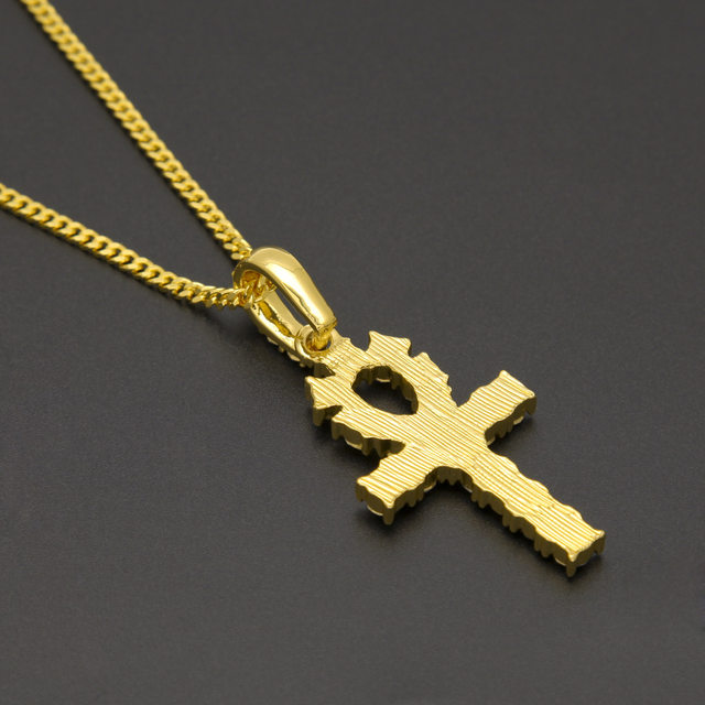 Online shop vintage gold ankh egyptian pendants men women stones vintage gold ankh egyptian pendants men women stones hip hop chains bling keys to life egypt cross jewelry gifts necklaces aloadofball Choice Image