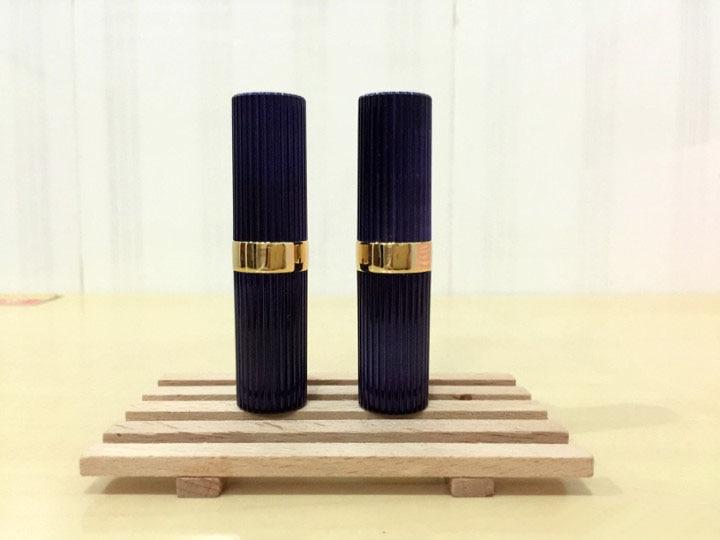 free shipping 3ml 11.1mm 10/20/5opcs/lot dark blue striated high-grade lipstick tube , empty Lip balm container napapijri guji check dark blue