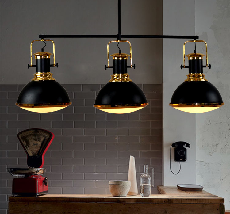 Nordic industrial contracted creative rural restaurant living room bar Retro Billiards LED 3 heads droplight american rural retro nostalgic industrial iron retro suction creative restaurant living room chandeliers free shipping