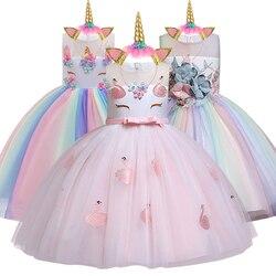 e2a253358df278 Nouvelle robe licorne pour filles broderie robe de bal bébé fille princesse  robes d'anniversaire pour Costumes de fête enfants vêtements