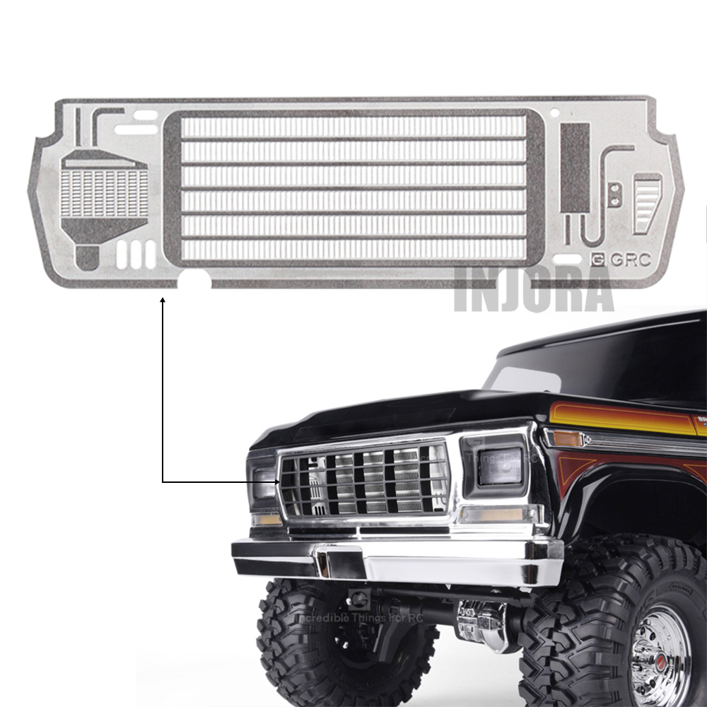 INJORA Metal Inlet Grille Cover For 1/10 RC Crawler TRAXXAS TRX4 Bronco 82046-4